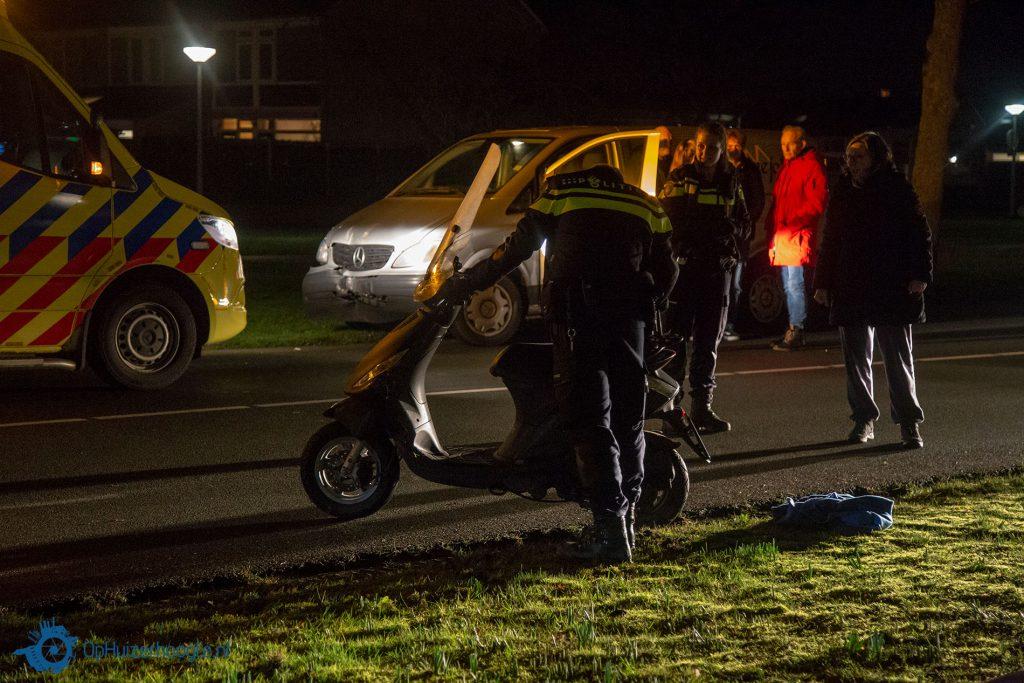 Gewonde ongeval Gemeenlandslaan Huizen